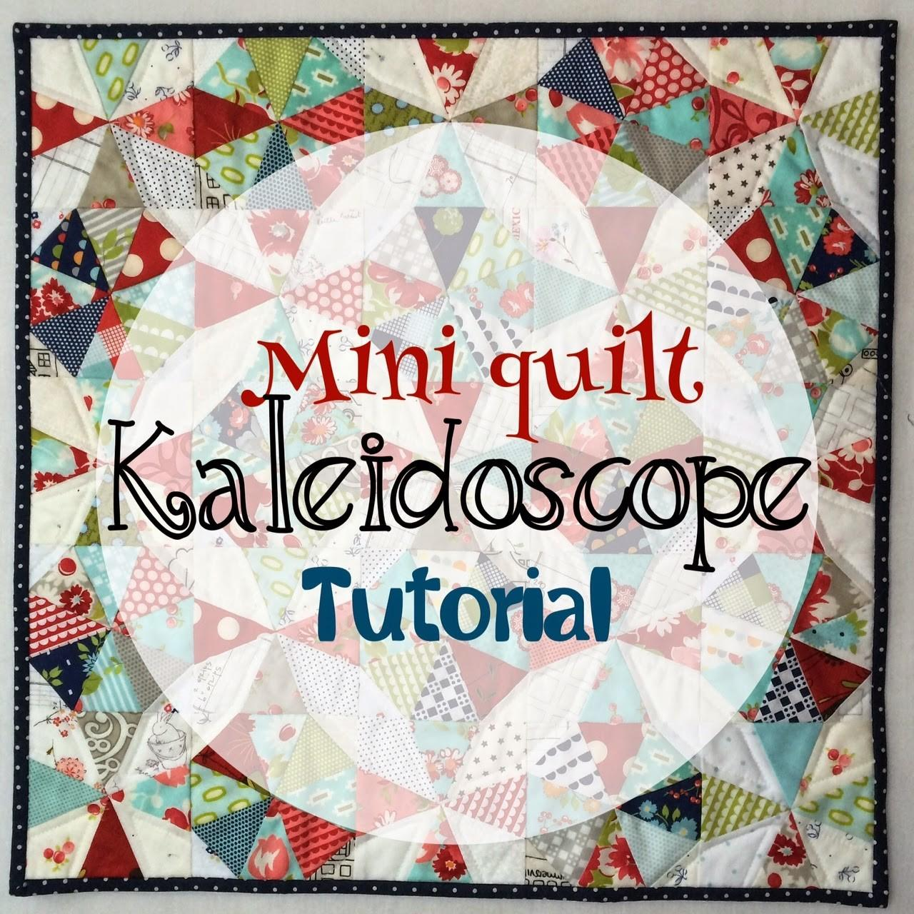 Red Rainboots Handmade Kaleidoscope Mini Quilt Pillow