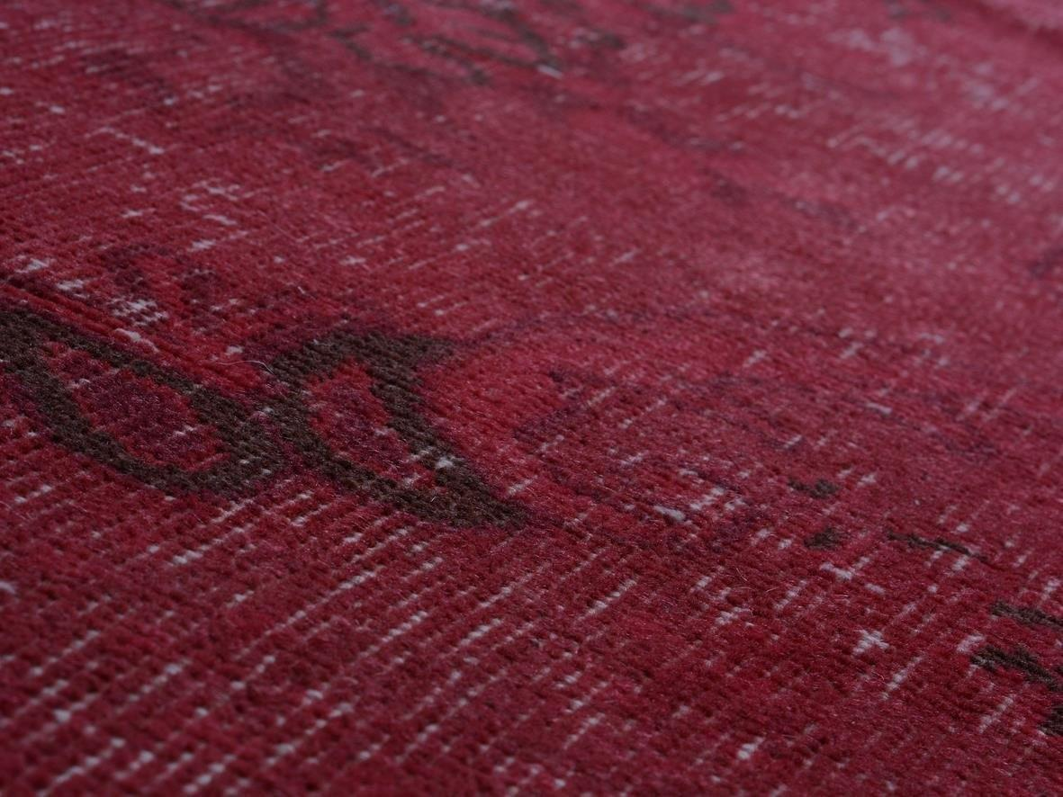 Red Rug Overdyed Turkish Handmade Area