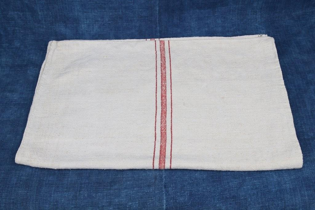 Red Stripe Table Runner Rustic Upholstery Fabric