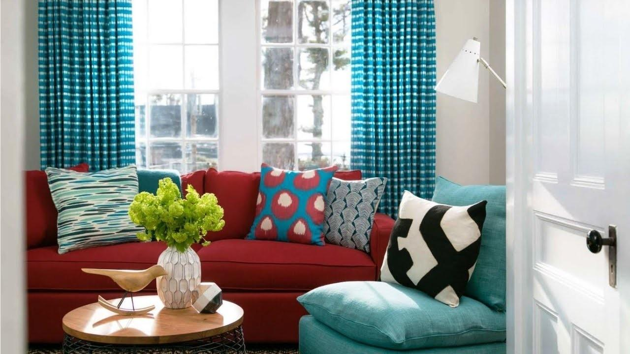 Red Turquoise Living Room Nana Workshop