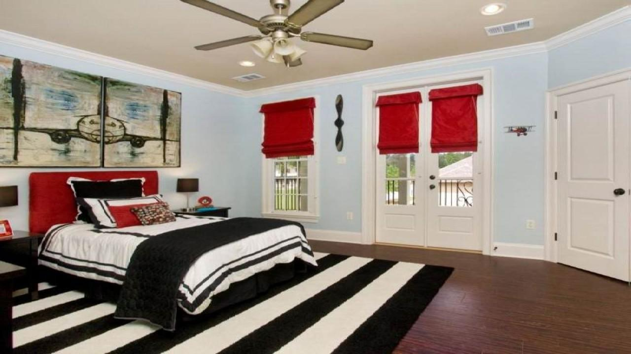 Red White Bedroom Decorating Ideas Black