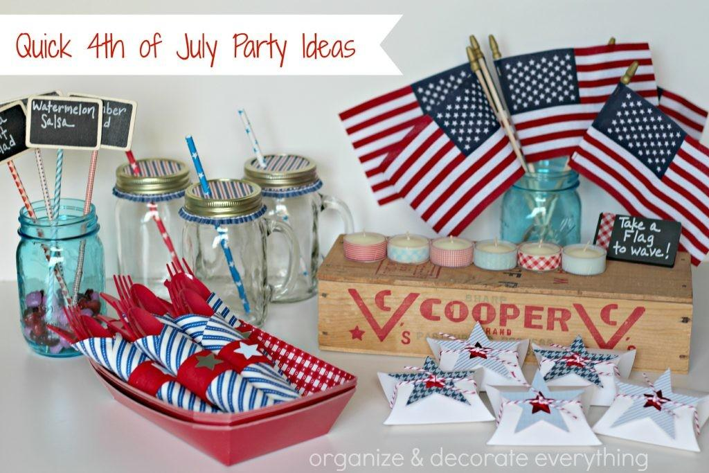 Red White Blue Treats Organize Decorate Everything