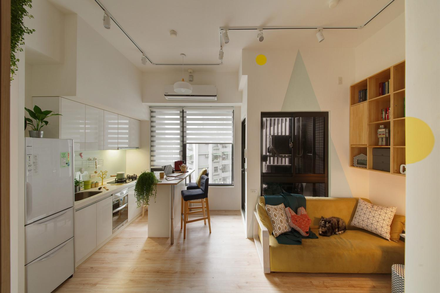Redesigned Tiny Apartment Loft Features Brighter