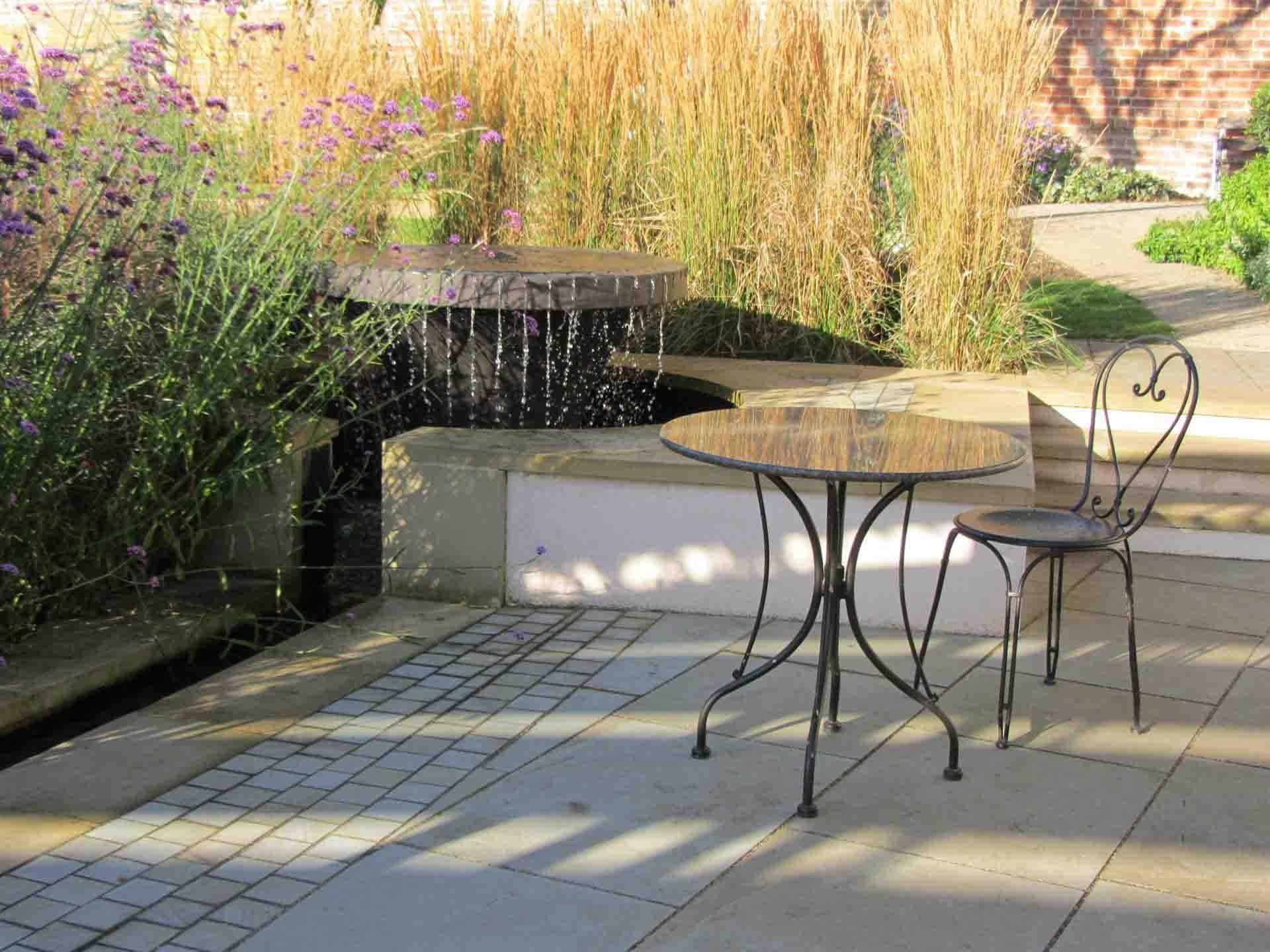 Refreshing Container Water Features Landscaping Ideas