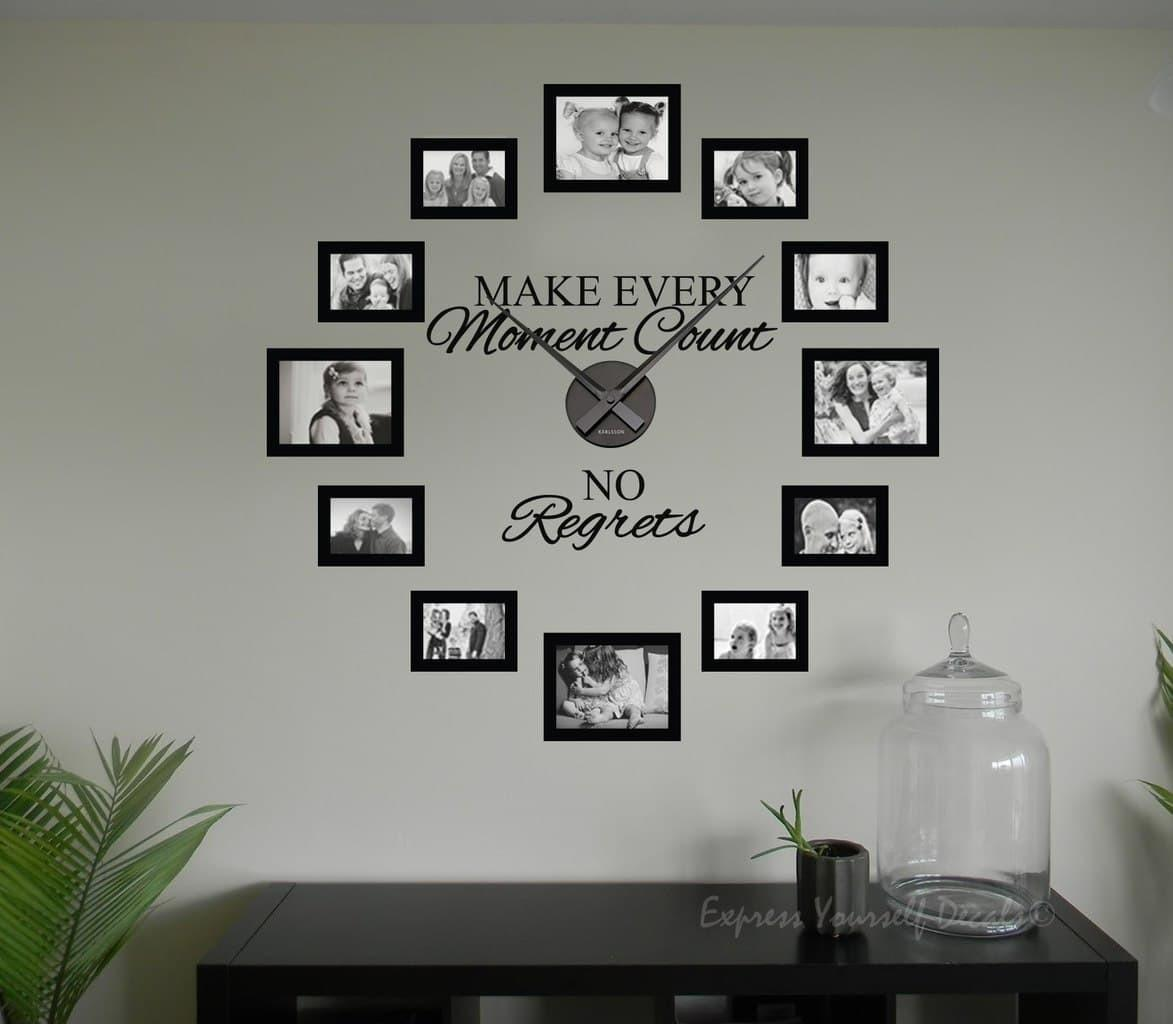 Regrets Frame Clock Wall Art