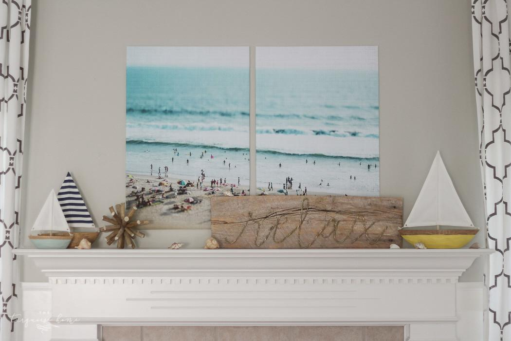 Relaxing Beach Summer Mantel 2016 Turquoise