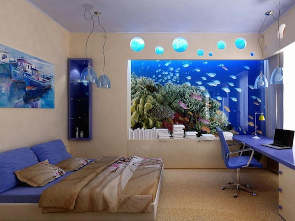 Relaxing Bedroom Ideas Teal Pendant Lamps Stylish