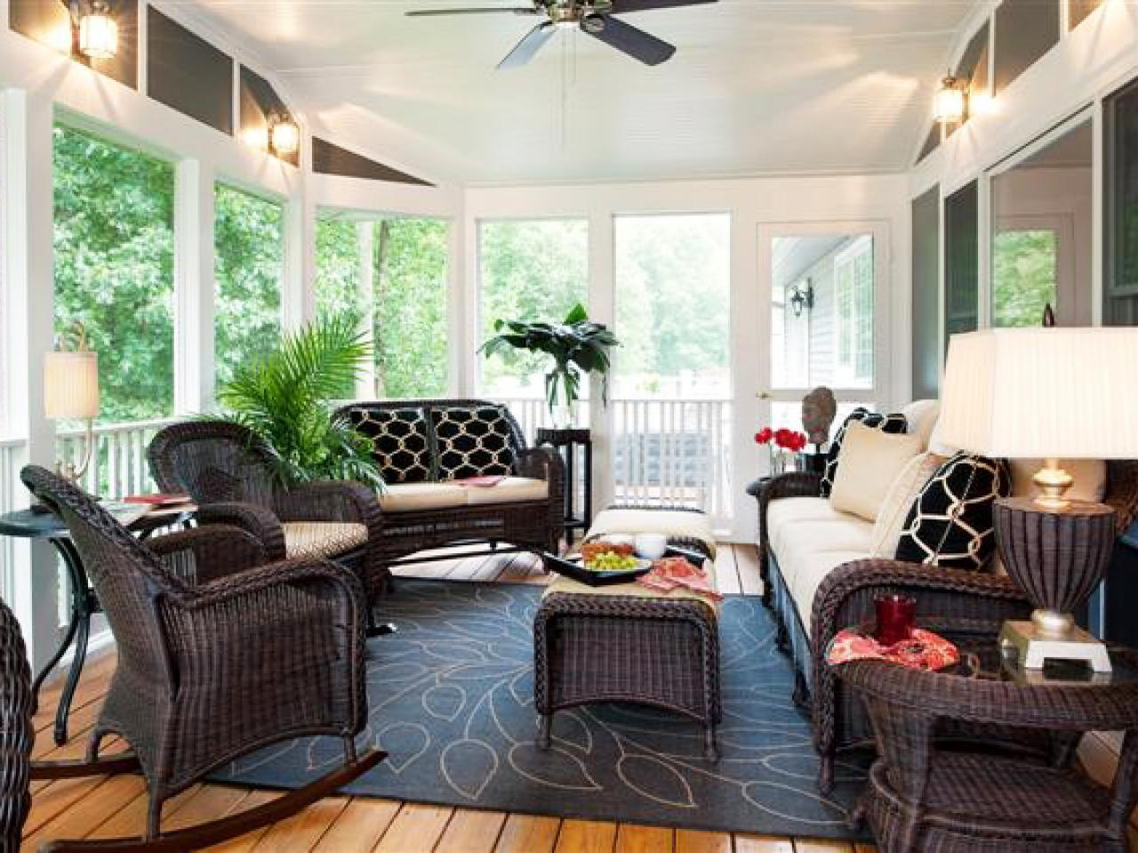 Relaxing Eclectic Sunroom Shelley Rodner
