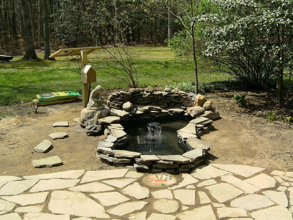 Relieving Home Backyard Water Fountains Ideas Homemade
