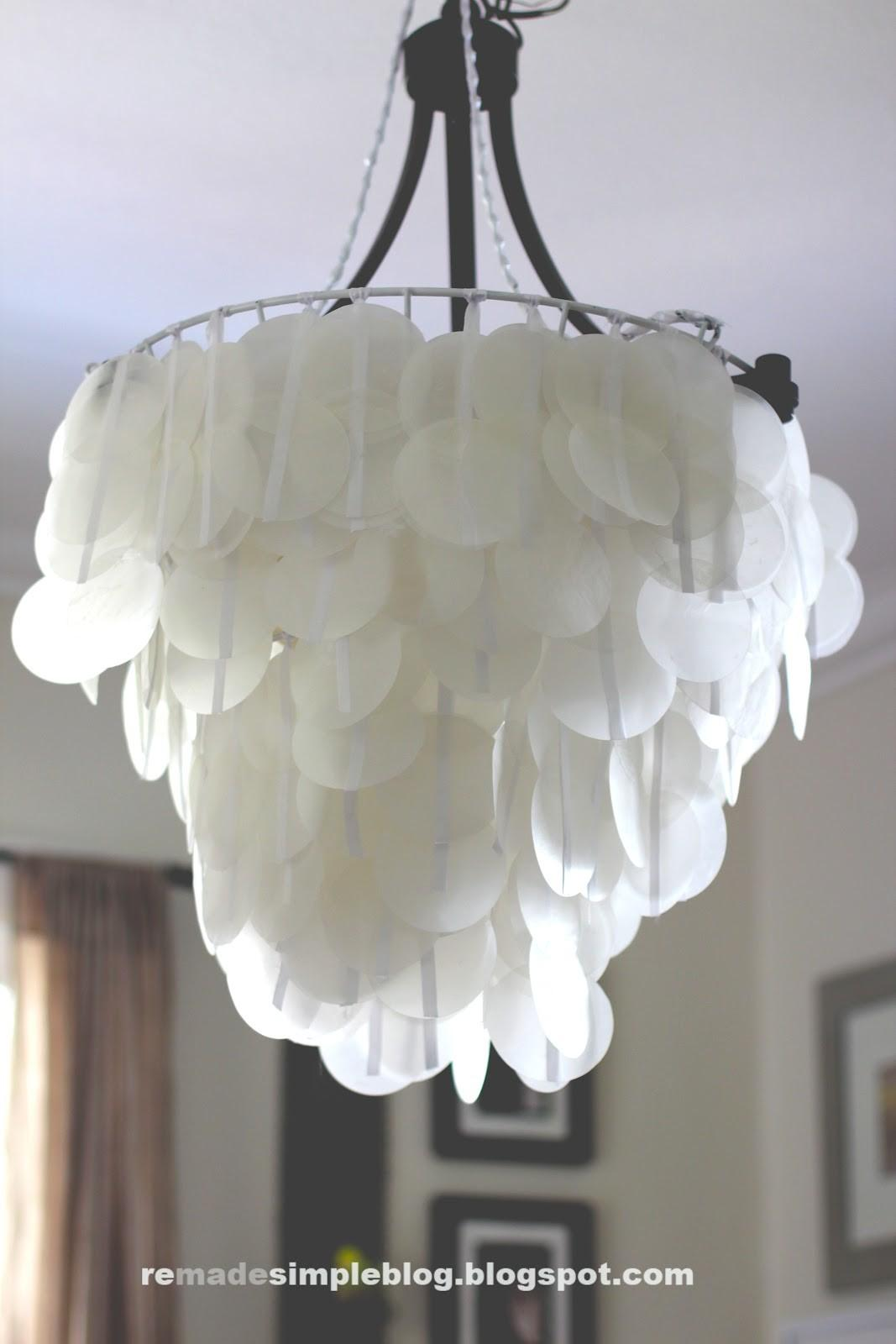Remadesimple Faux Capiz Shell Chandeliers