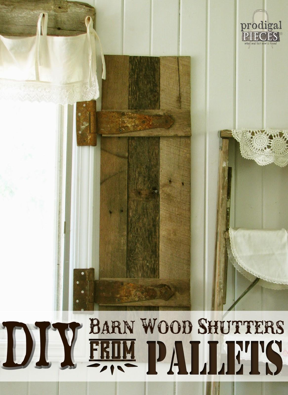 Remodelaholic Build Rustic Barn Wood Shutters Pallets