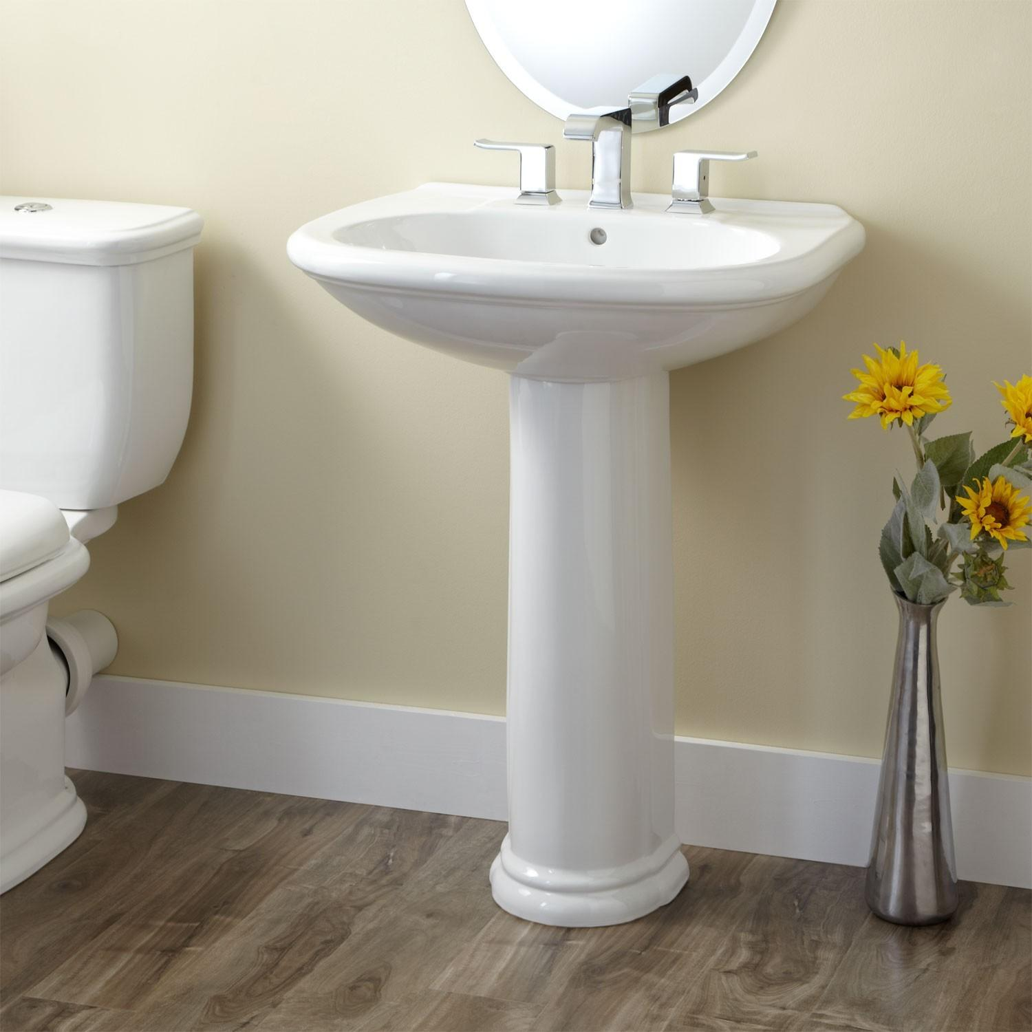 Remodeled Bathrooms Pedestal Sinks Ideas