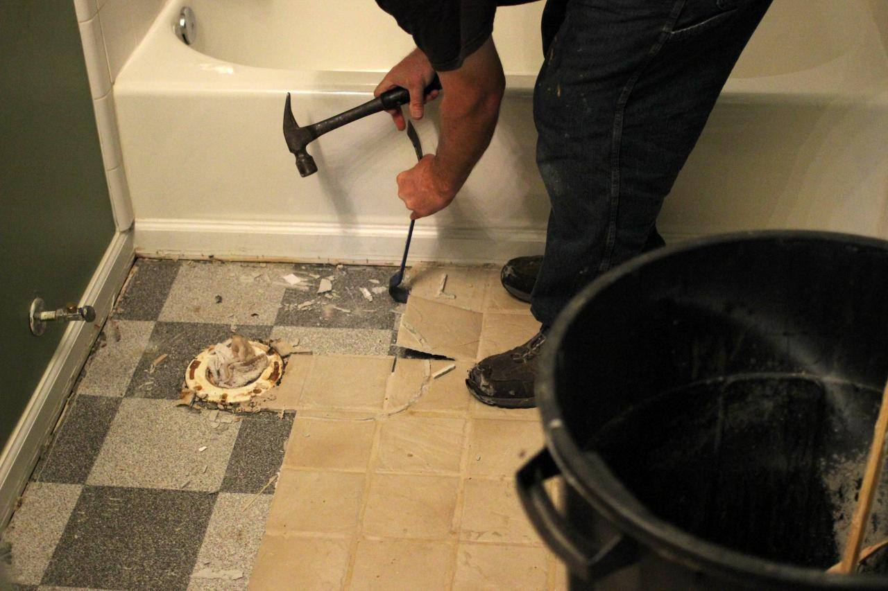 Remove Tile Floor Tos Diy