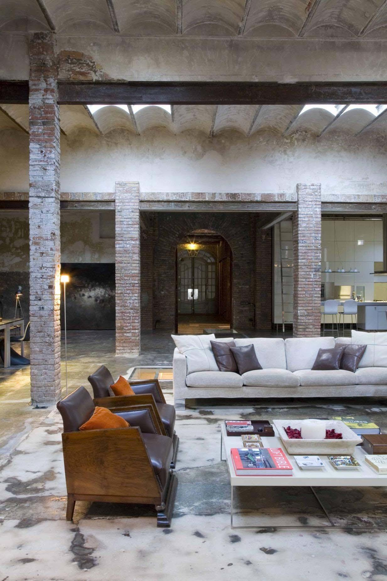 Renovated Loft Barcelona Brimming Industrial Character