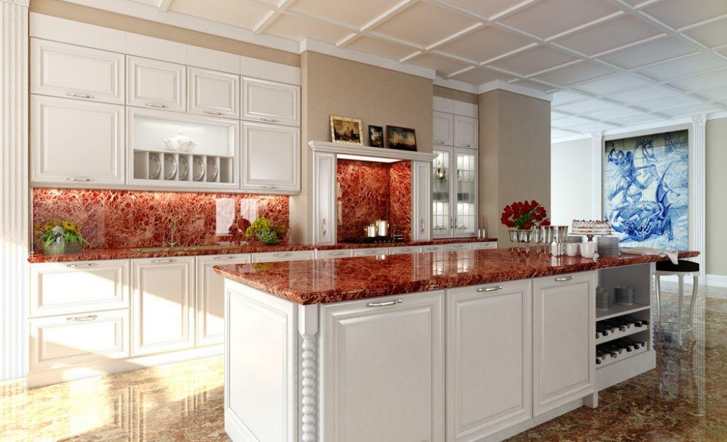 Renovation Ideas Pink Marble Countertops White