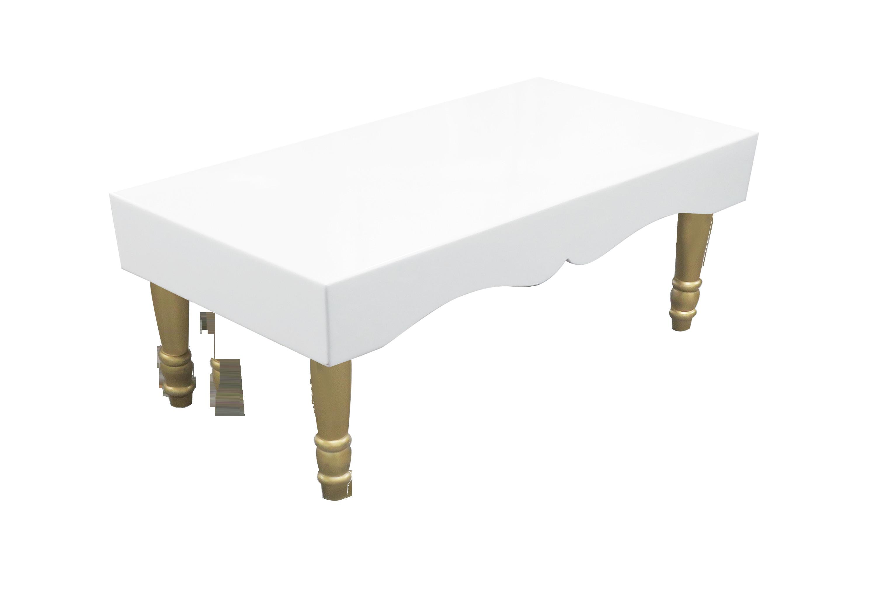 Rent Buy Avalon Chic Rectangular Gold Coffee Table