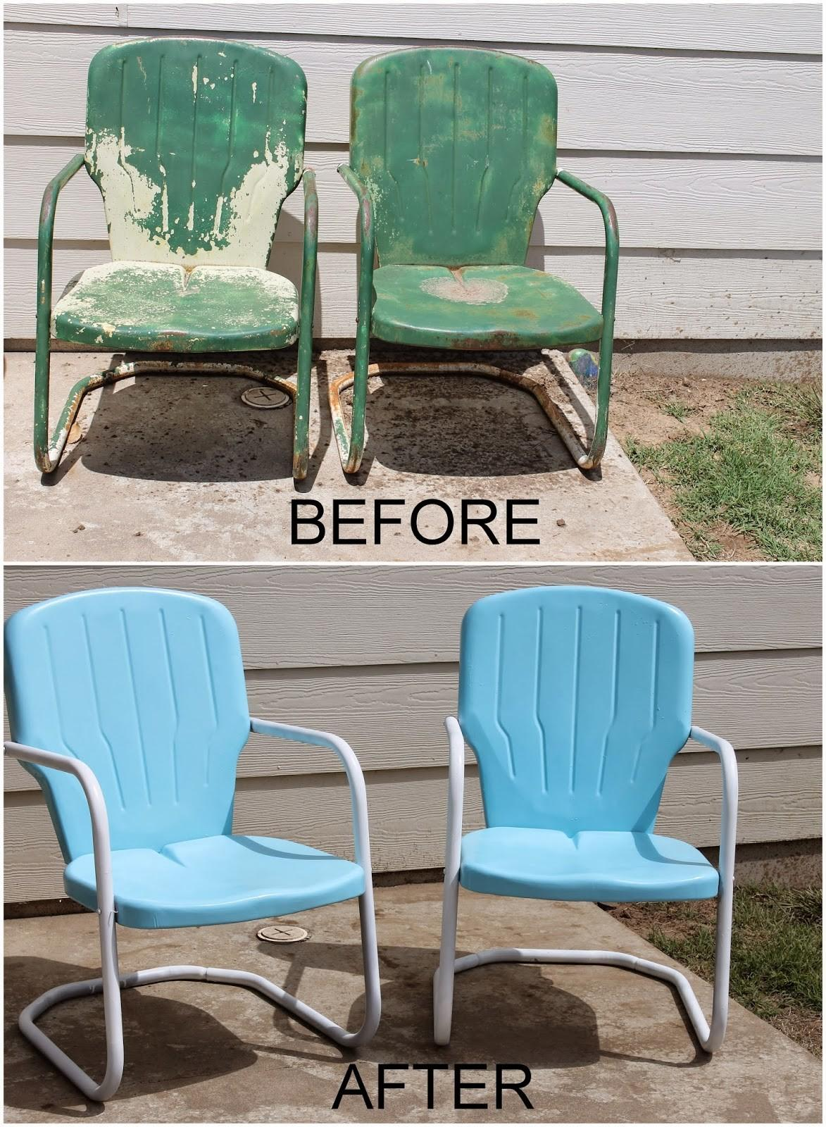 Repaint Old Metal Patio Chairs Diy Paint Outdoor