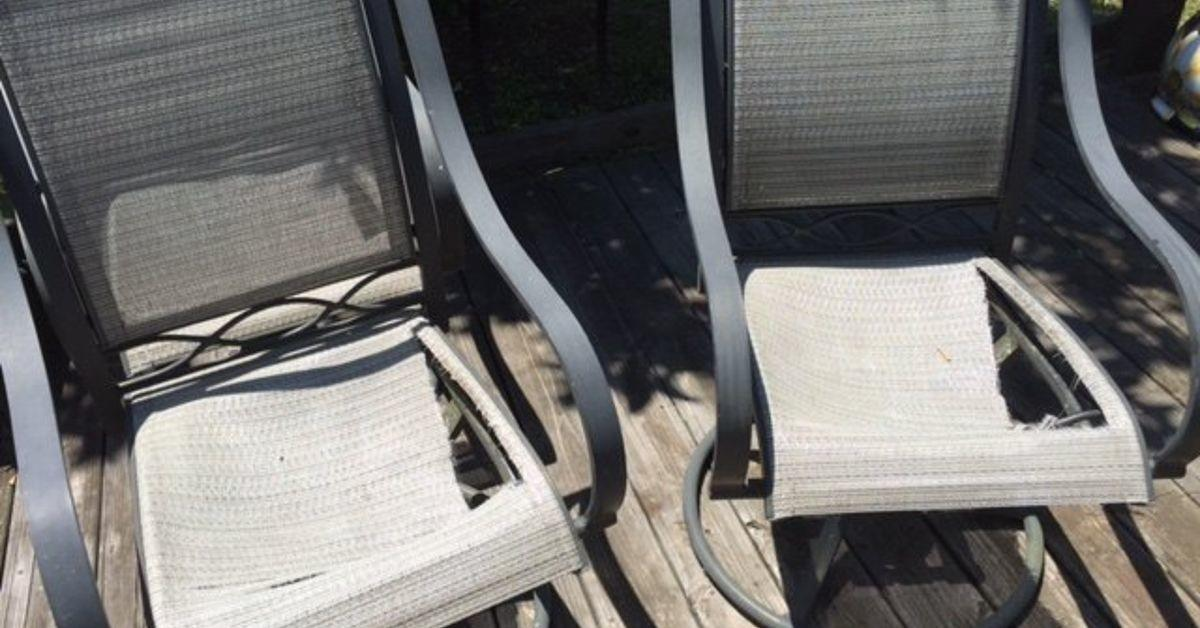 Replacing Repairing Dryrotted Fabric Outdoor Furniture