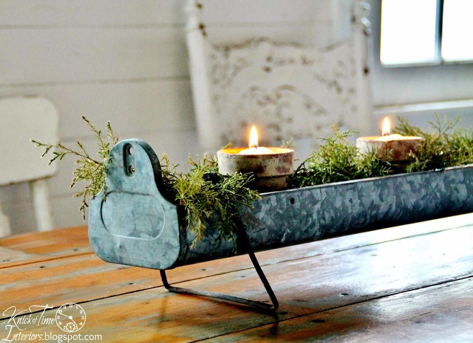 Repurposed Christmas Candle Holder Centerpieces Knick