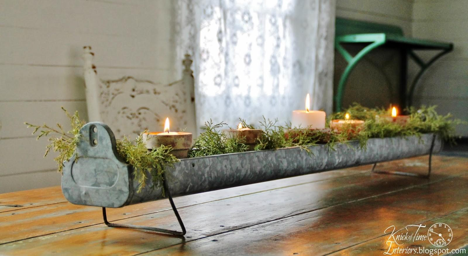 Repurposed Christmas Candle Holder Centerpieces Link
