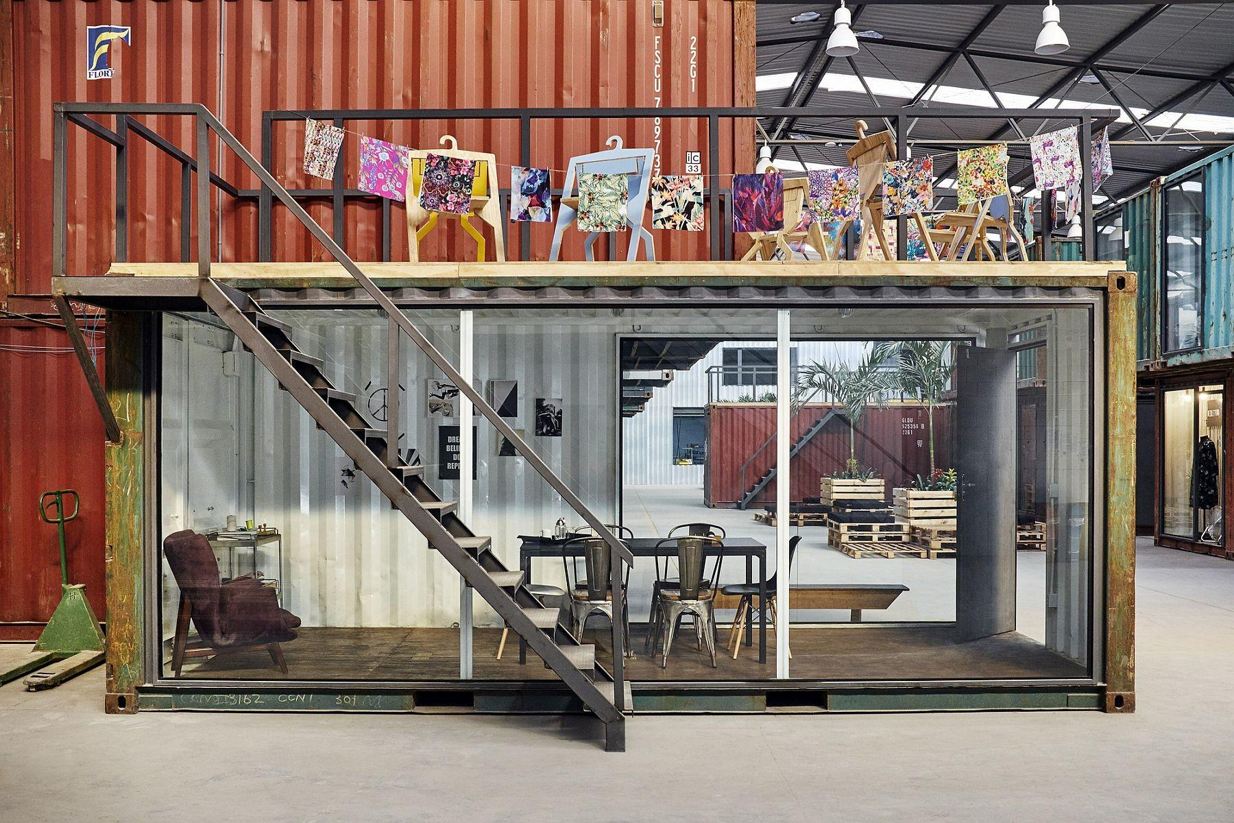 Repurposed Containers Inside Warehouse Reshape Rio