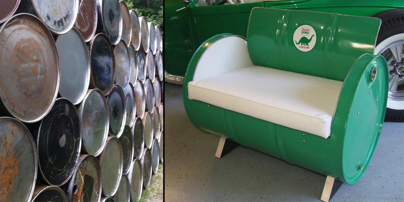 Repurposed Gallon Drums Furniture Very Cool