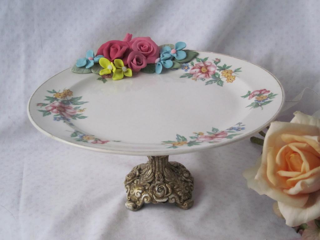 Repurposed Plate Candle Jewelry Holder Items