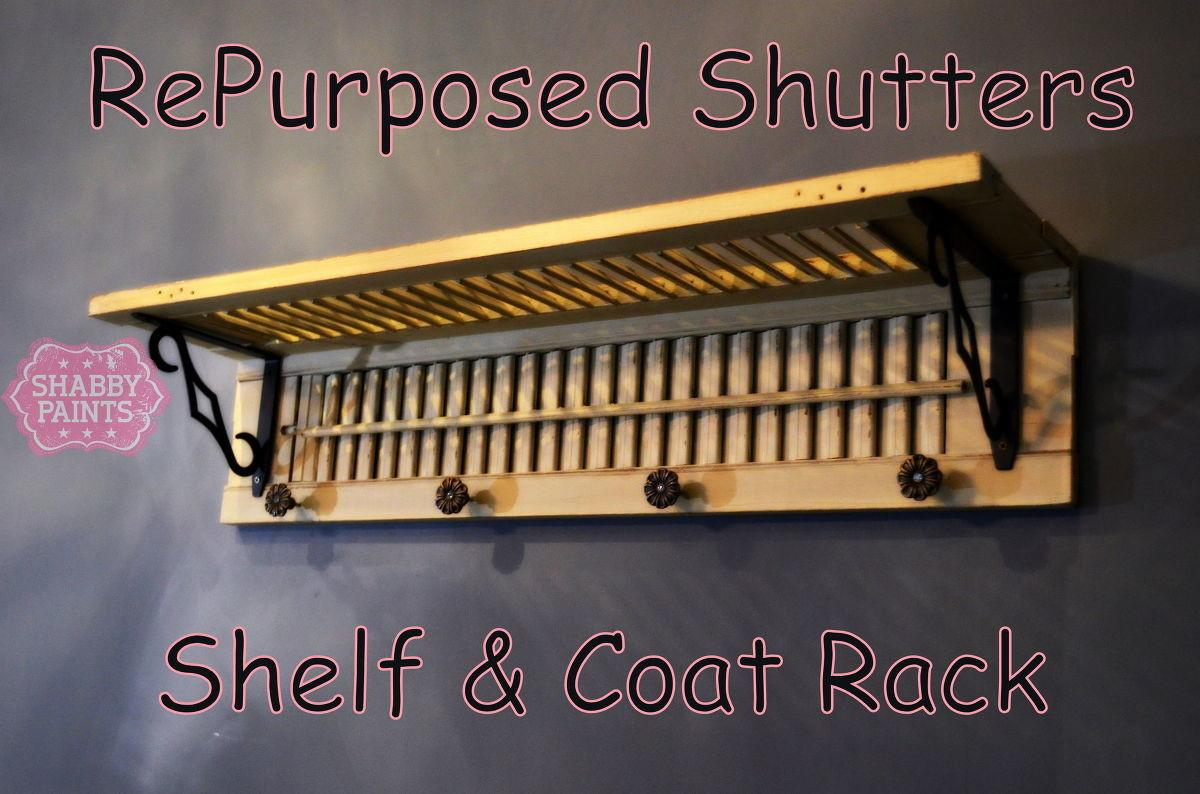 Repurposed Shutters Coat Rack Hometalk