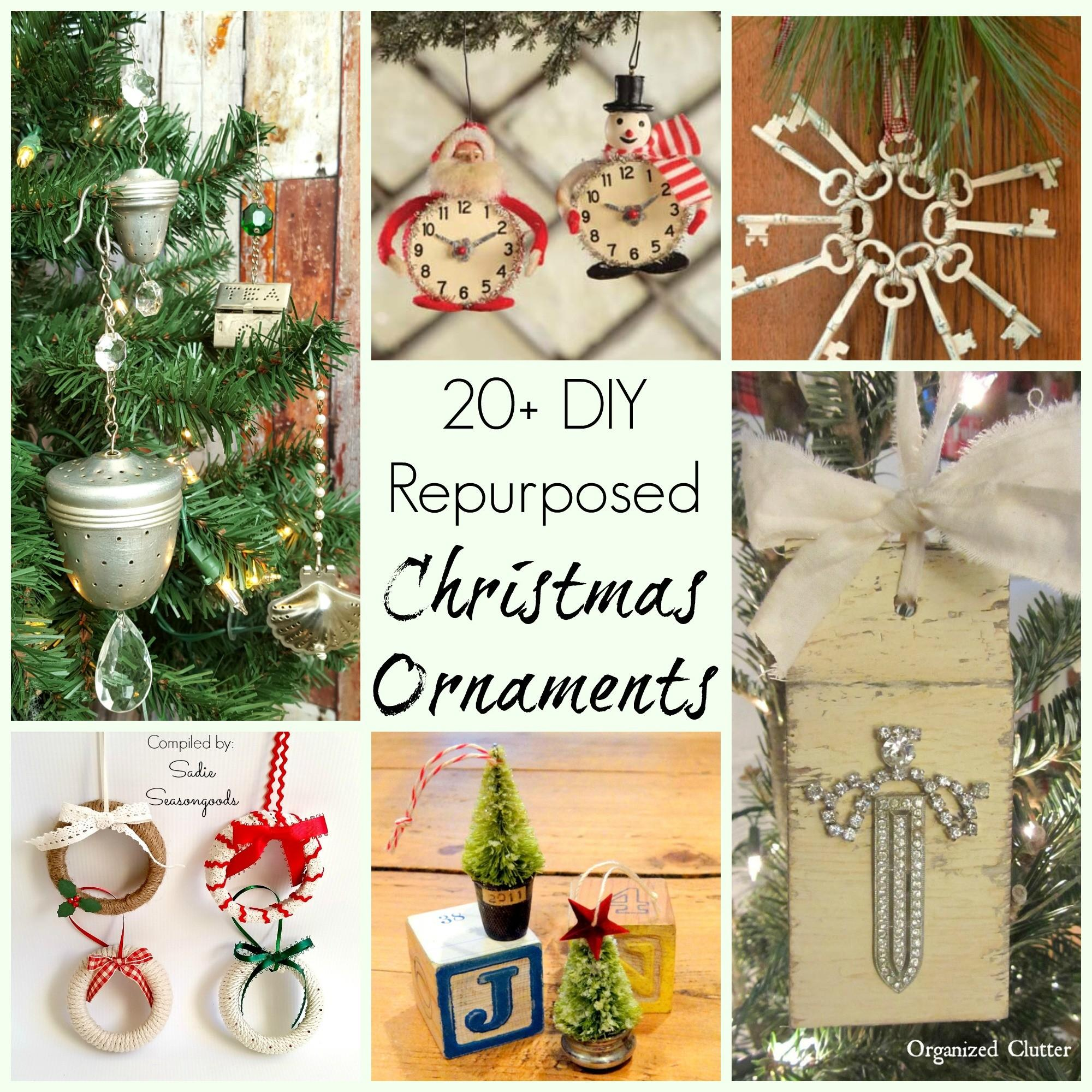 Repurposed Upcycled Diy Craft Project Christmas