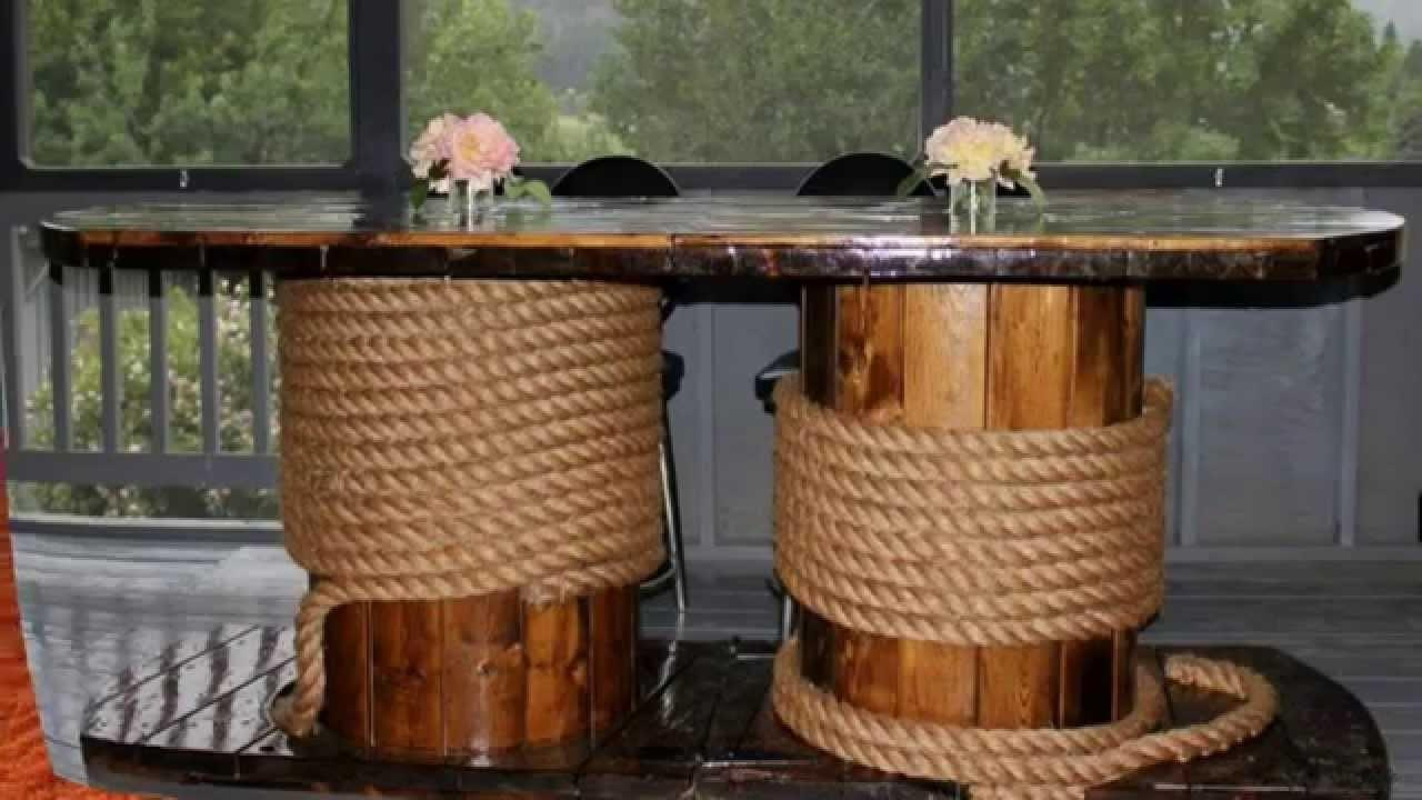 Repurposed Wooden Cable Spool Creative Ideas