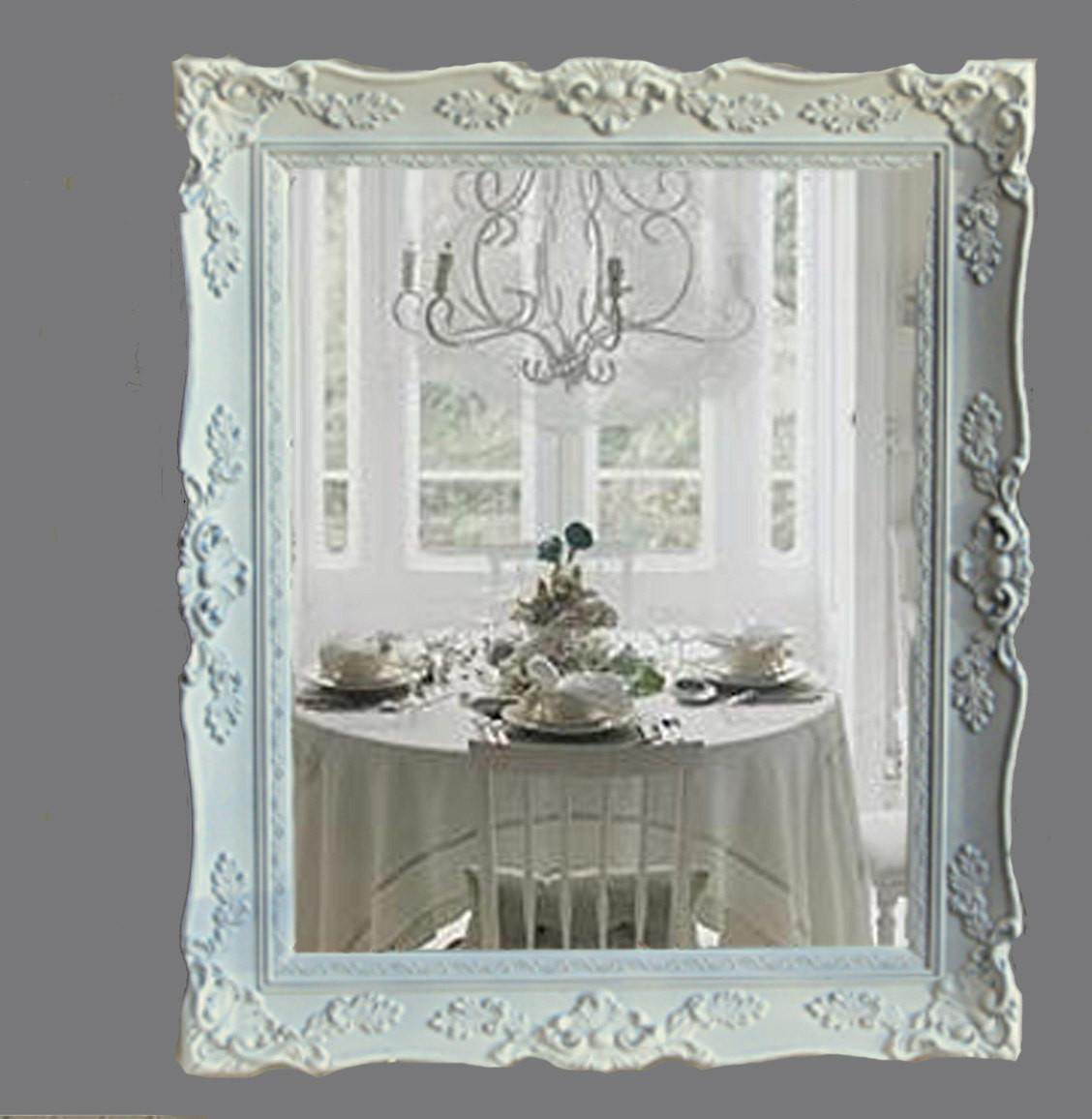 Reserved Alma Shabby Chic Mirror Cottage White