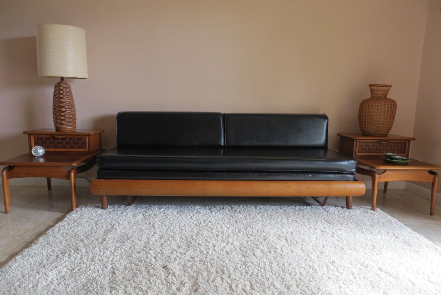 Reserved Mid Century Modern Danish Style Sofa Couch Daybed