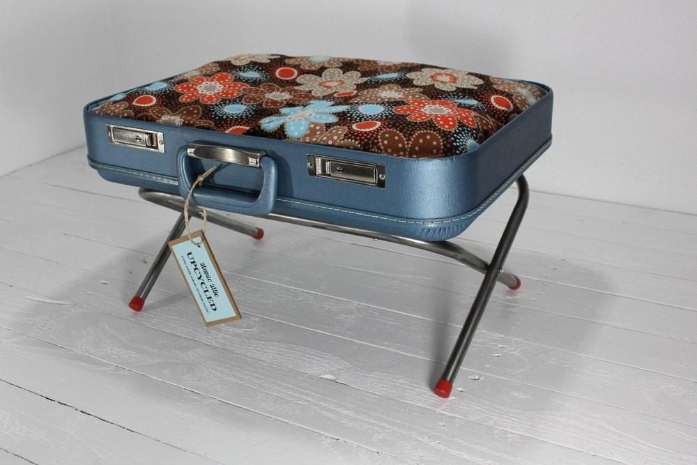 Reservedupcycled Vintage Suitcase Pet Bed Atomicattic
