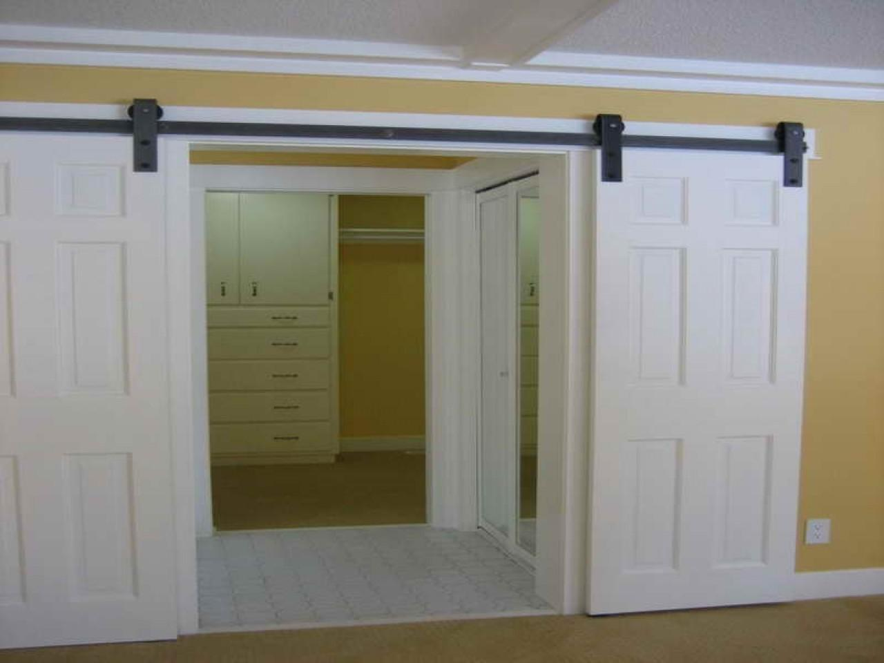 Residential Barn Door Hardware Interior