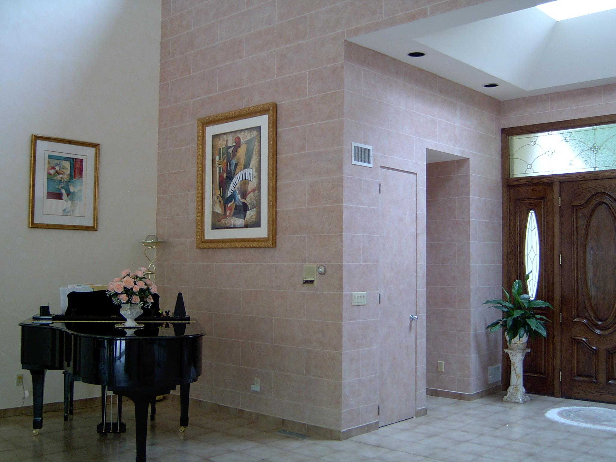 Residential Interior Faux Concrete Block Wall All Pro