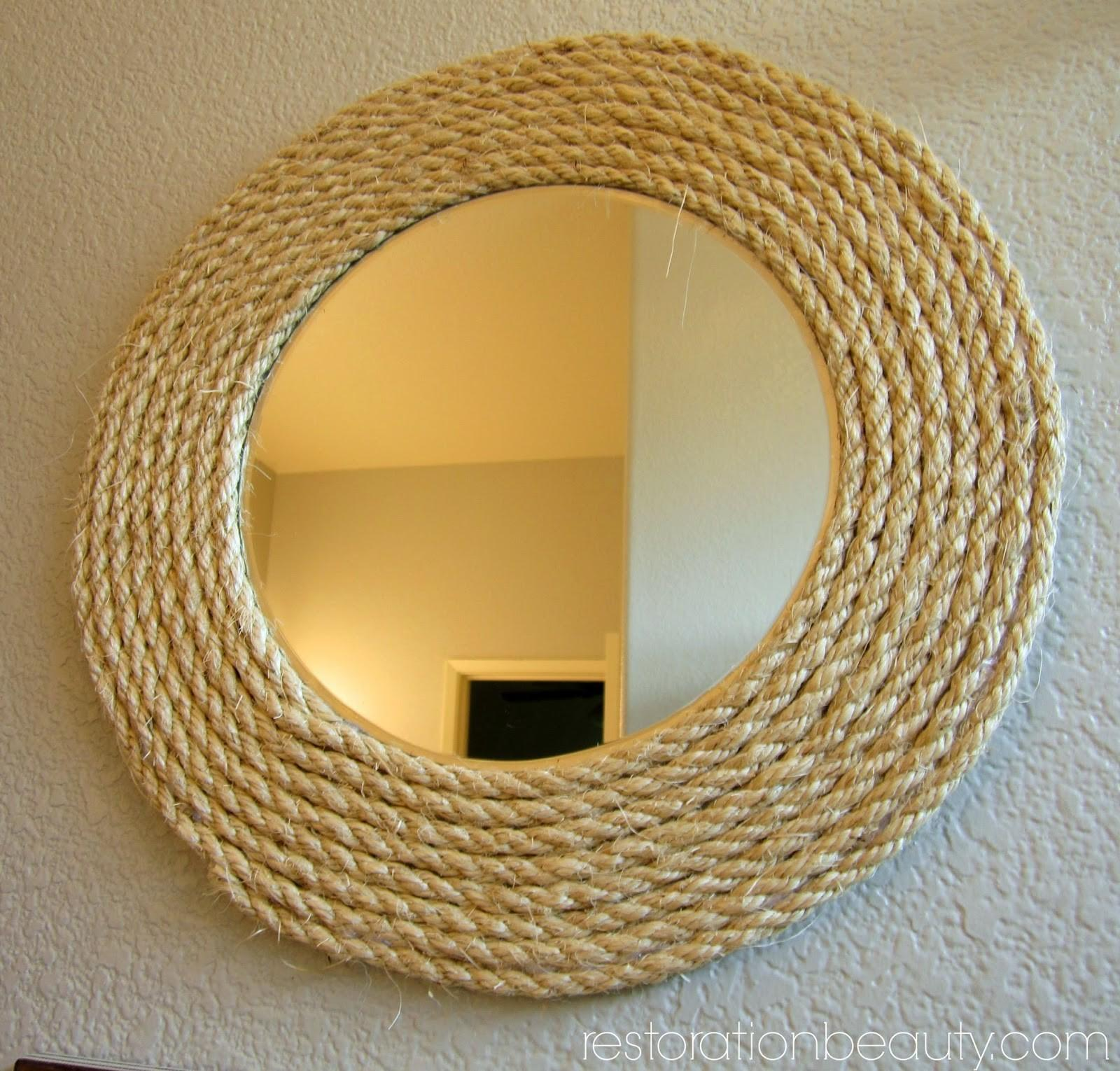 Restoration Beauty Look Less Diy Rope Mirror