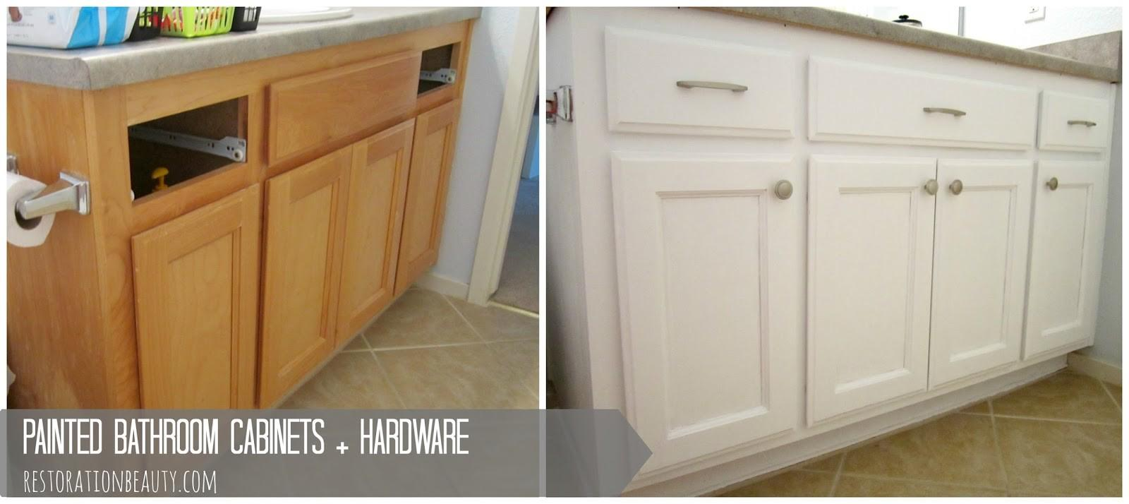 Restoration Beauty Painted Bathroom Cabinets Hardware