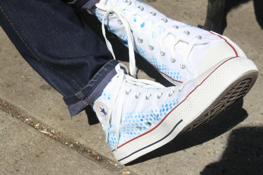 Restyled Polka Dot Sneakers Favecrafts