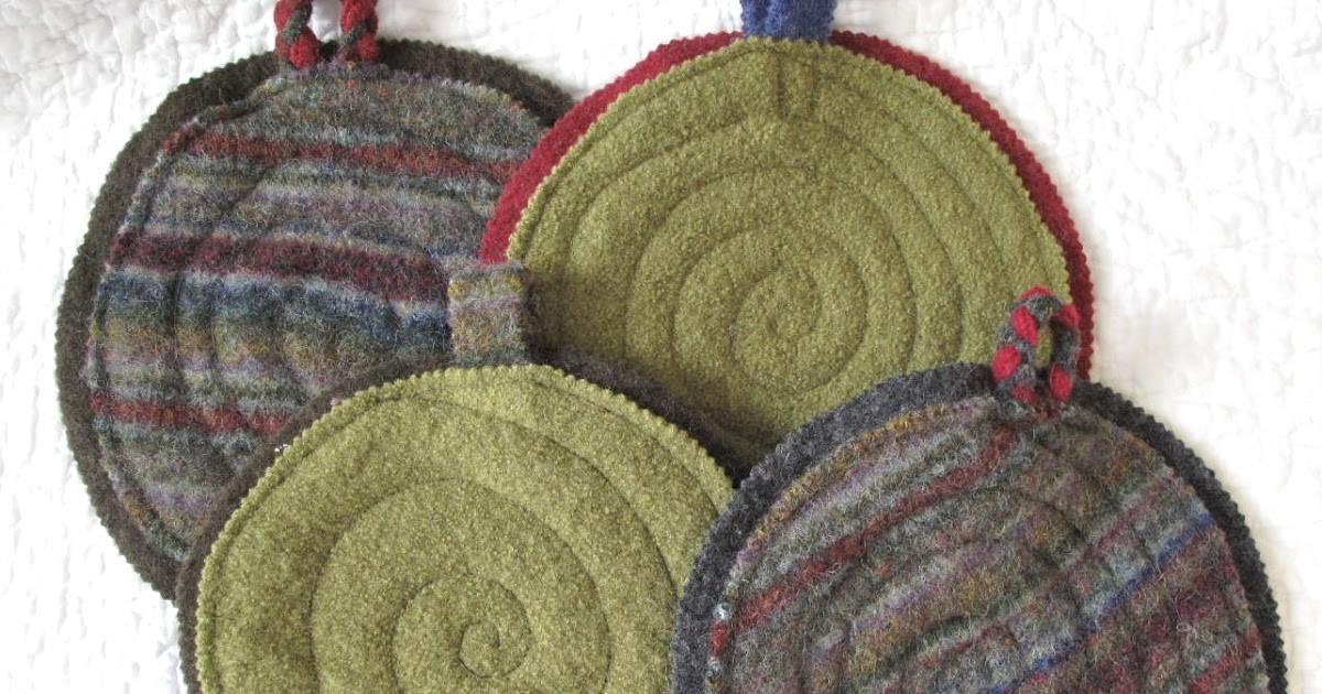 Resweater Christmas Gifts Made Trivets