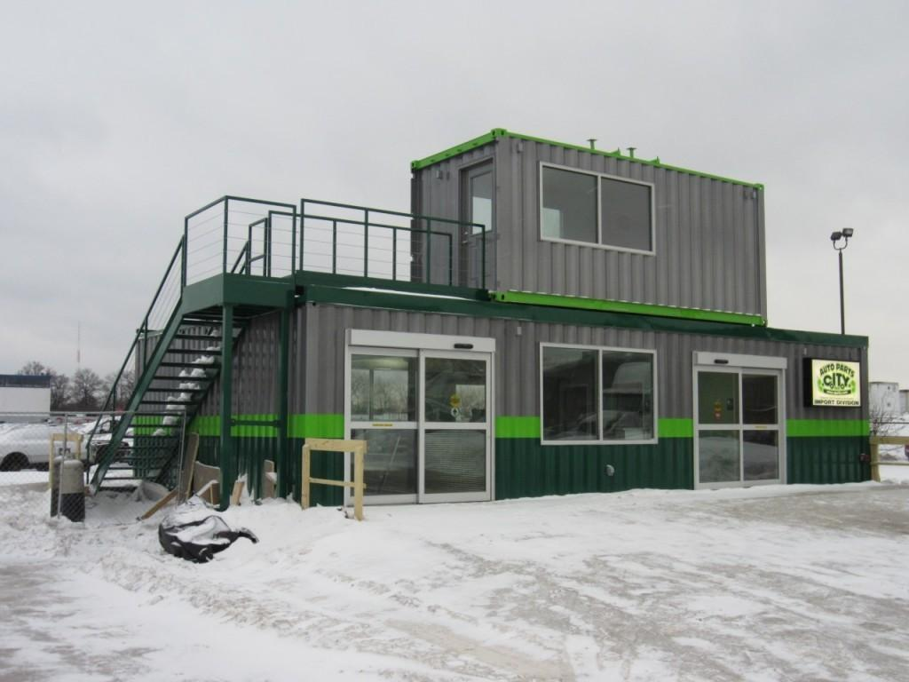 Retail Office Space Using Shipping Containers Mods