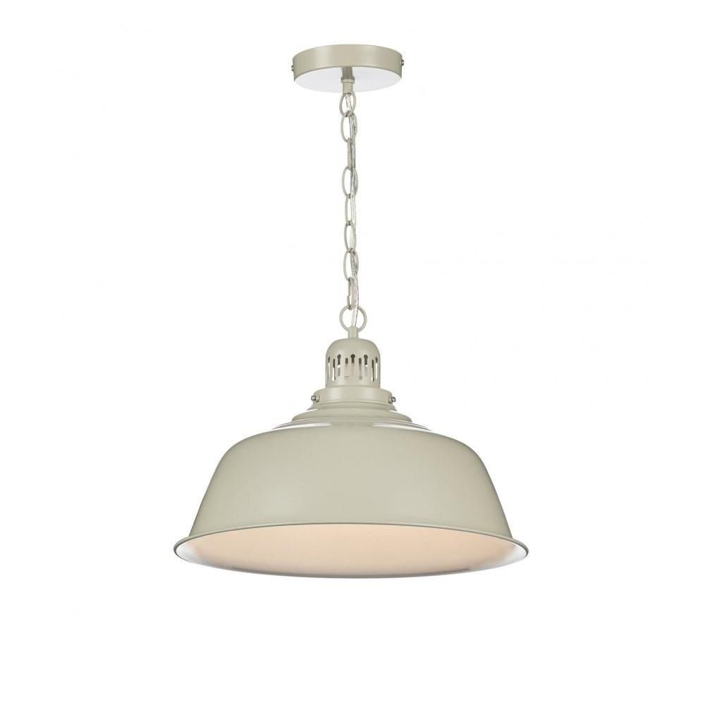 Retro Cream Finished Ceiling Pendant Double Insulated