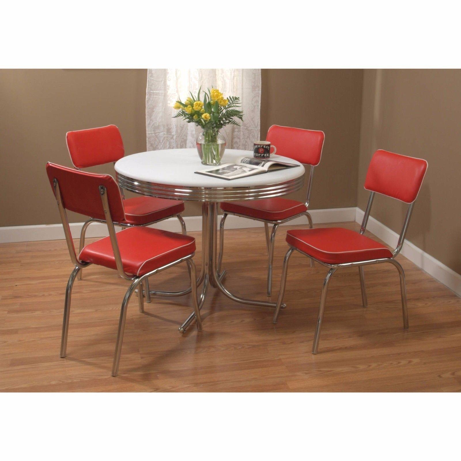 Retro Dining Room Furniture Set Vintage Diner Table