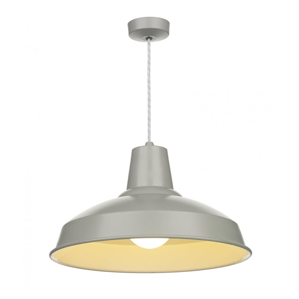 Retro Style Grey Painted Metal Ceiling Pendant Over