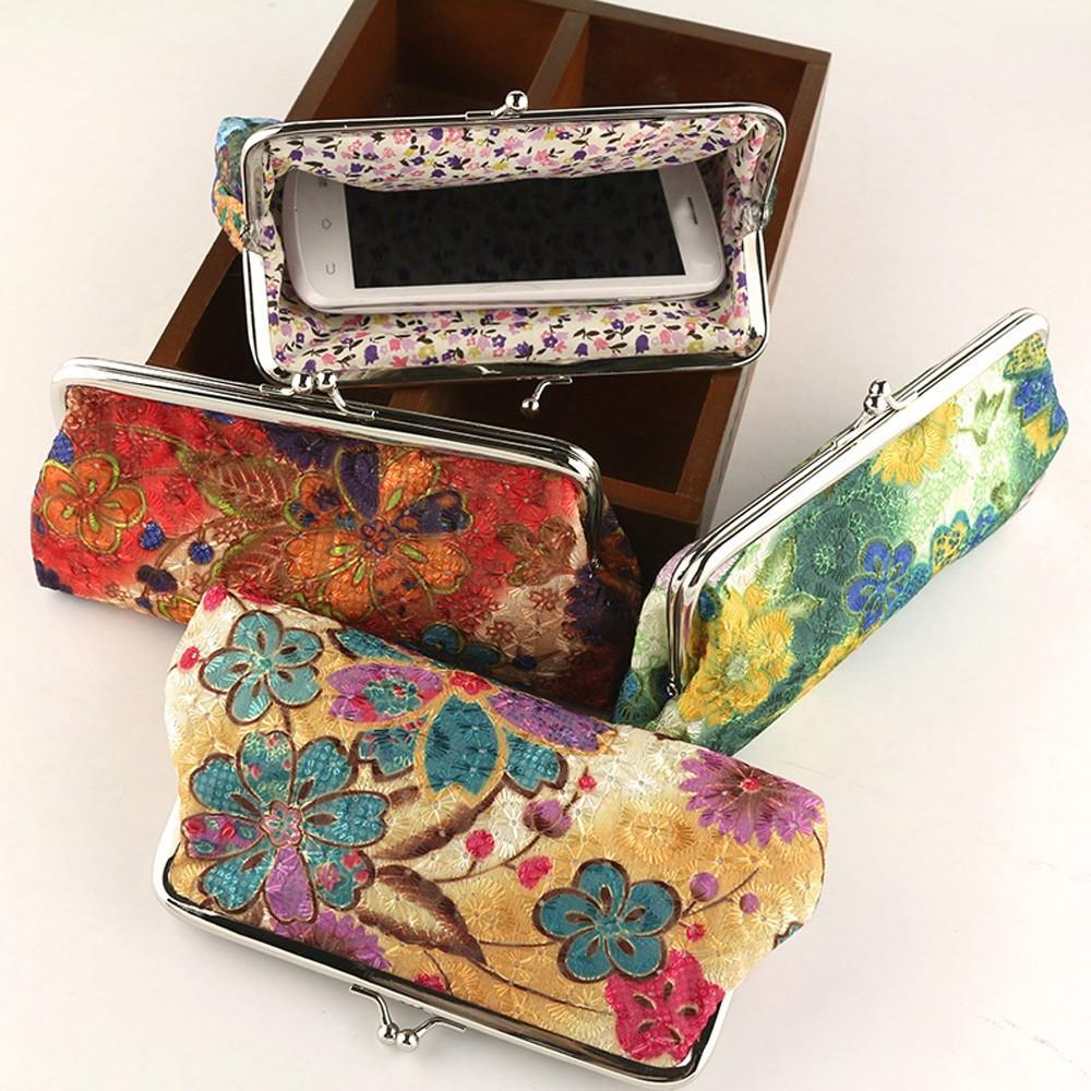 Retro Vintage Style Women Small Wallet Credit Card Holder