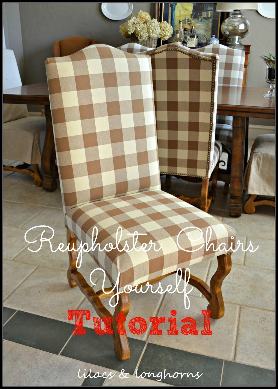 Reupholster Dining Chair Lilacs