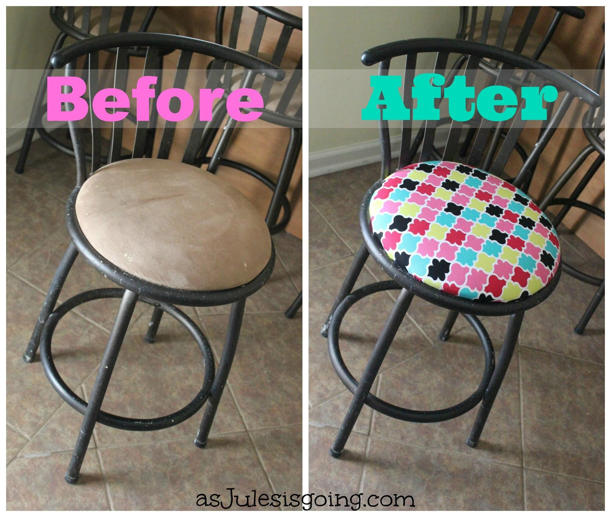 Reupholstering Round Bar Stools Vintage French