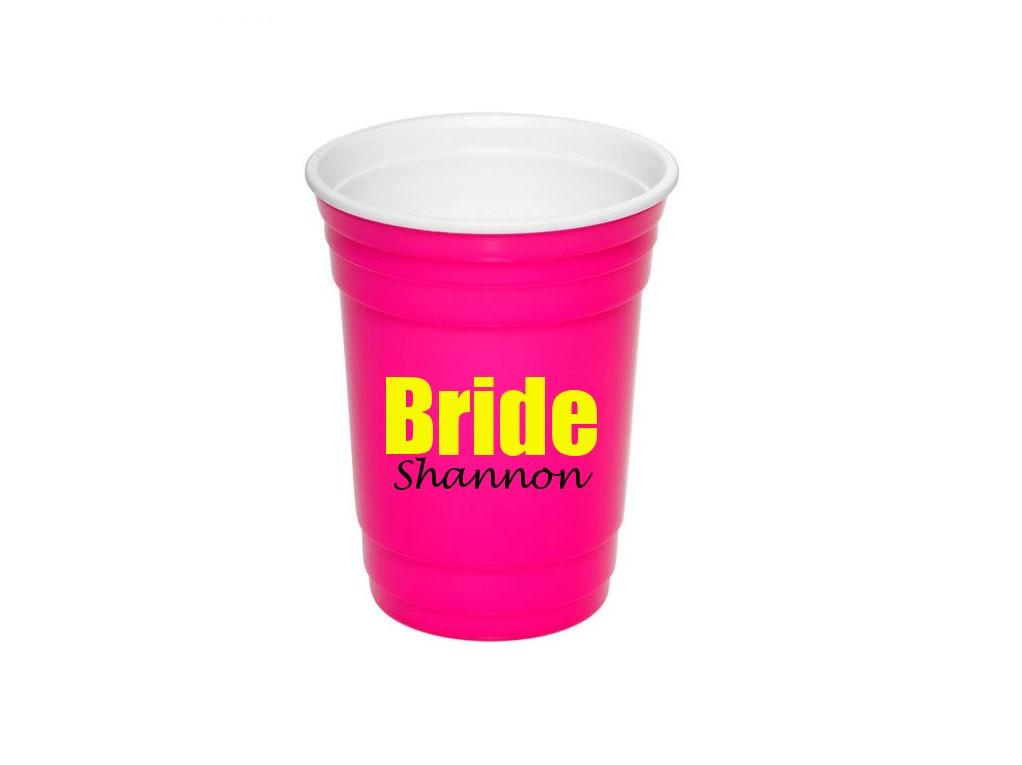 Reusable Solo Cup Bride Cups Pink