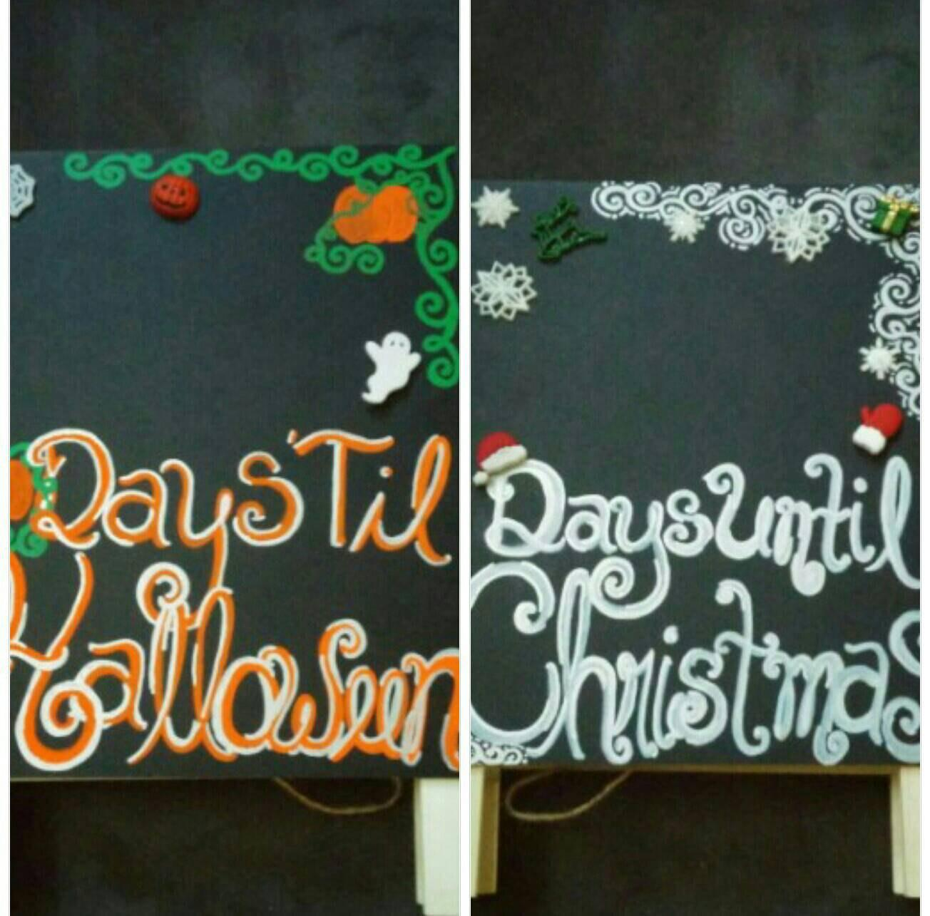 Reversible Count Down Sign Two Sided