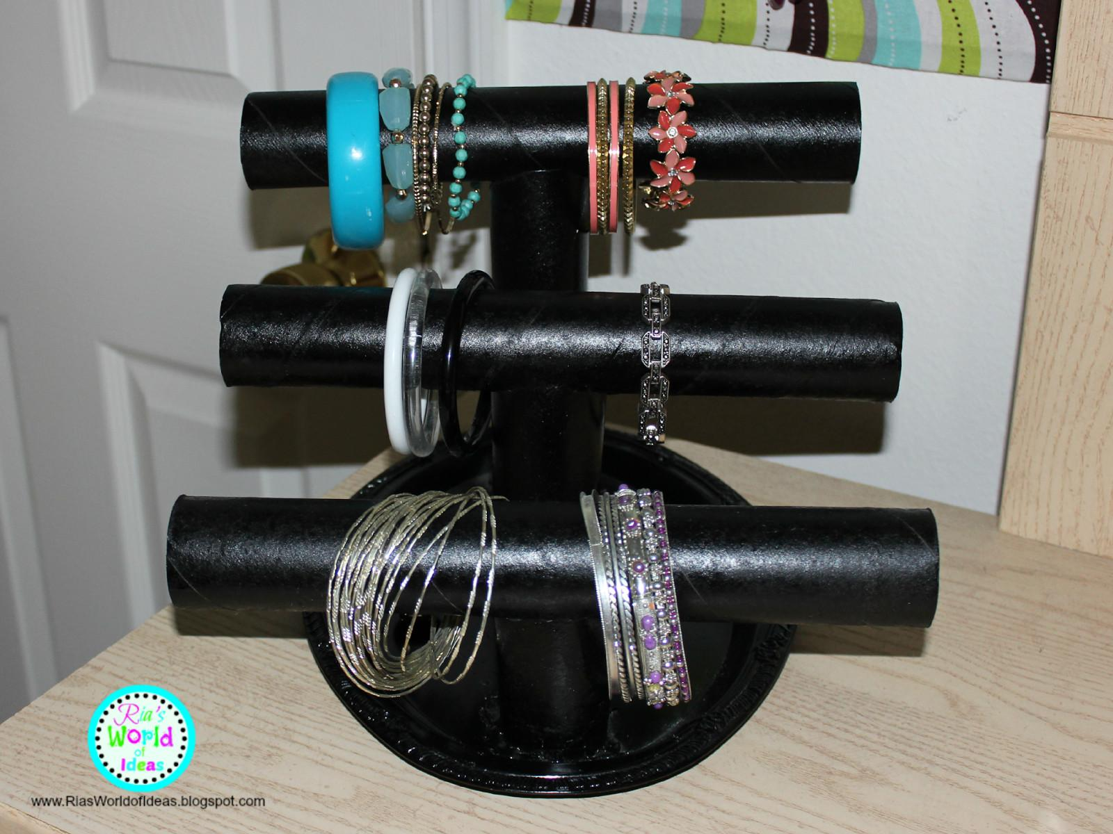 Ria World Ideas Diy Paper Towel Roll Jewelry Holder
