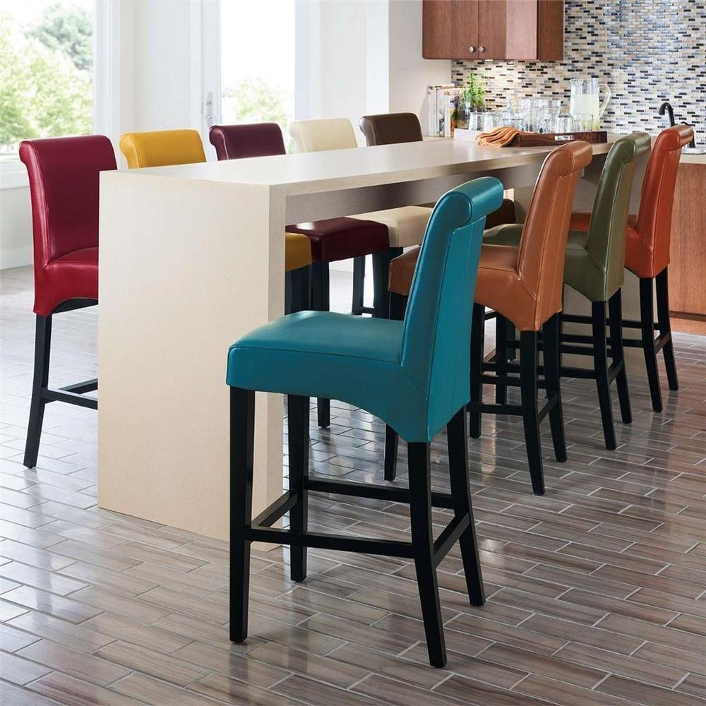 Rich Textured Bonded Leather Dining Kitchen Counter
